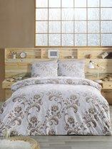 """Постельное белье """"RANFORCE"""" 1,5 сп 50х70*1 шт LUCIAN, цвет коричневый, 1.5-спальный - Altinbasak"""