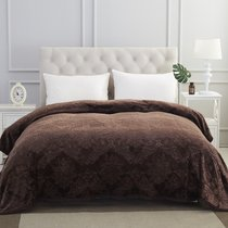 "Плед KARNA вельсофт жаккард ""DARVIN""220x240 см, цвет темно-коричневый, 220x240 - Bilge Tekstil"