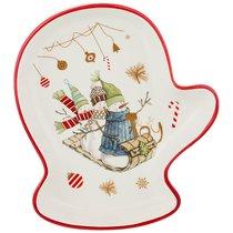 Блюдо Зимняя Забава 20x17,5x3 см - Huachen Ceramics