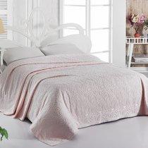 Простынь махровая Karna Esra, цвет абрикосовый, размер 200x220 - Karna (Bilge Tekstil)