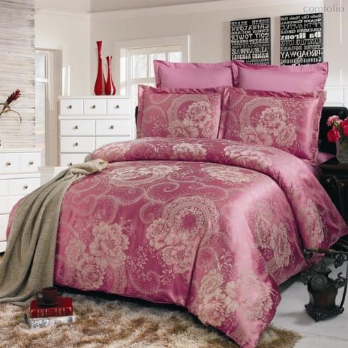Комплект постельного белья JC-02, цвет малиновый, размер 1.5-спальный - Valtery