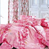 Комплект постельного белья С-106, цвет розовый, размер 1.5-спальный - Valtery