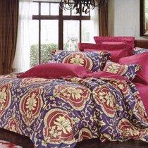 Комплект постельного белья RS-220, цвет красный, Семейный - Famille