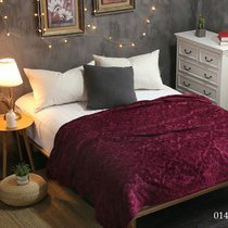 "Плед Cleo ""MORESKA"" велсофт евро 200*220 200/014-OPM, цвет вишневый, 200 x 220 - Cleo"