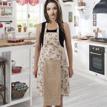 Фартук кухонный Karna с салфеткой 30x50, цвет бежевый - Karna (Bilge Tekstil)