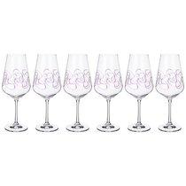 Набор бокалов для вина из 6 шт. SANDRA 550 мл ВЫСОТА 26 см . (КОР 1Набор.) - Crystalex