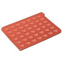 Форма для приготовления печенья Macaron Heart 30 х 40 см силиконовая - Silikomart