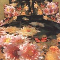 Комплект постельного белья RS-80, цвет персиковый, размер Евро - Famille