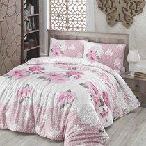Постельное белье Ranforce Guldem, цвет розовый, размер Евро - Altinbasak Tekstil