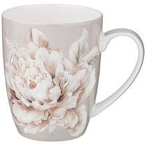 Кружка Lefard White Flower 420 мл Серая - Jinding