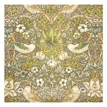 """Скатерть с рисунком """"Утро в лесу"""", P434-1901/3, 170х170 см, цвет оливковый, 170x170 - Altali"""
