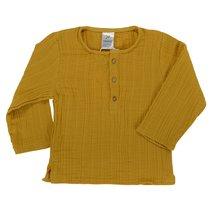 Рубашка из хлопкового муслина горчичного цвета из коллекции Essential 4-5Y - Tkano