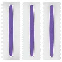 Набор скребков-шпателей зубчатых для торта Wilton 22,8х7,6см, 3шт - Wilton