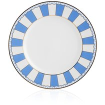 """Набор из 2 десертных тарелок 21см """"Карнавал"""" (синяя полоска) п/к, цвет синий - Noritake"""