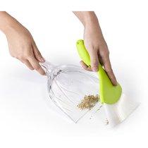 Совок для уборки крошек Sparrow прозрачно-зеленый - Qualy