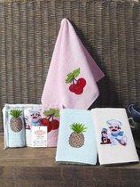 "Кухонные полотенца махровые ""KARNA"" FRUCTUS 30х50 см 1/3 - Bilge Tekstil"