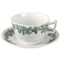 """Чашка чайная с блюдцем 200мл """"Зеленый венок (Джон Рёскин)"""" - Spode"""