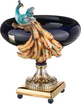 Чаша Декоративная Павлин Высота 49 см Диаметр 38 см, цвет синий - Ceramiche Stella