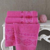 Полотенце махровое Karna Rebeka, цвет розовый, размер 70x140 - Karna (Bilge Tekstil)