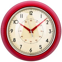 Часы Настенные Кварцевые Lovely Home Диаметр 23 см Цвет:Красный - Arts & Crafts