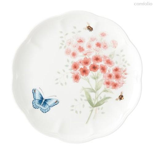 "Тарелка закусочная Lenox ""Бабочки на лугу.Птицы.Чечетка"" 23см - Lenox"