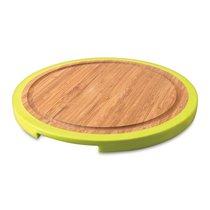 Доска разделочная бамбуковая с силиконовыми накладками 25*25*1,5см (круглая) Studio, цвет лайм - BergHOFF