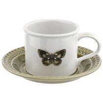 """Чашка чайная с блюдцем Portmeirion """"Ботанический сад.Гармония"""" 260мл (зеленое блюдце) - Portmeirion"""