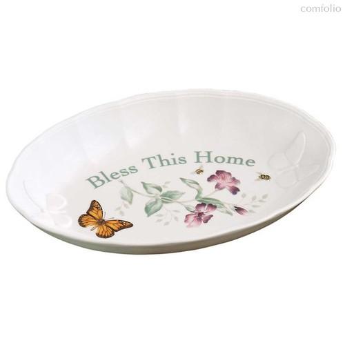 """Блюдо овальное Lenox """"Бабочки на лугу"""" 28см - Lenox"""