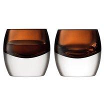 Набор из 2 тумблеров Whisky Club 230 мл коричневый - LSA International