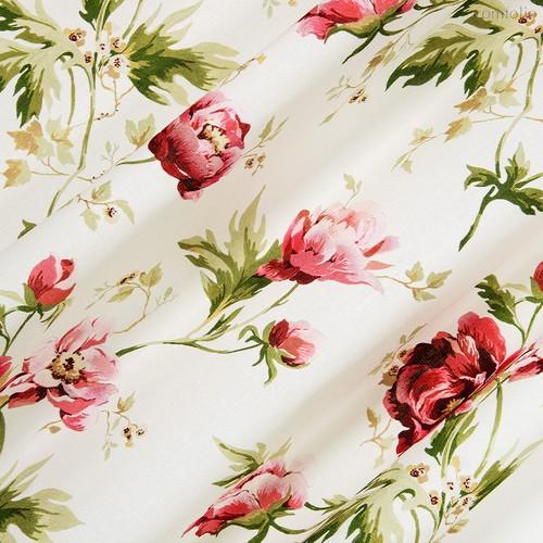 Ткань хлопок Джейн Эйр ширина 220 см, 2181/1, цвет бордовый - Altali