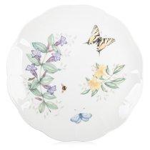 """Тарелка обеденная Lenox """"Бабочки на лугу.Бабочка-Парус"""" 27,5см, цвет сиреневый, 27 см - Lenox"""