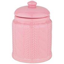 Банка Для Сыпучих Продуктов 700 мл Коллекция Вязанка Цвет: Розовый - Hebei Grinding Wheel Factory
