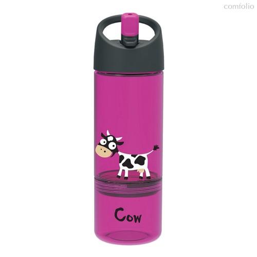 Детская бутылка 2в1 Carl Oscar Cow фиолетовая, цвет фиолетовый - Carl Oscar