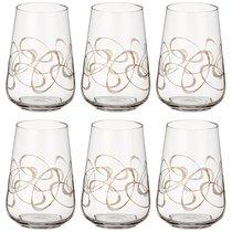 Набор стаканов из 6 шт. SANDRA 380 мл ВЫСОТА 12 см - Crystalex