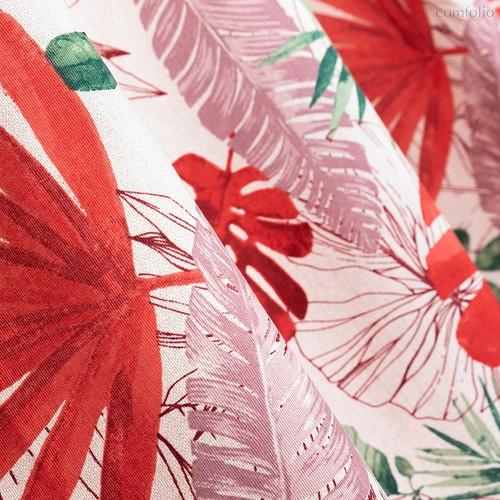 Ткань лонета Раджа ширина 280 см/ 3085/2, цвет красный - Altali