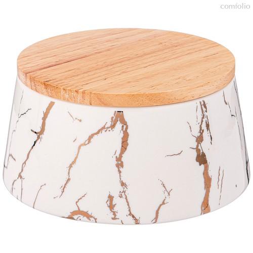 Банка с деревянной крышкой Lefard Fantasy 13,5x7,5 см 600 мл - Towin Ceramics