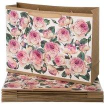 Комплект Бумажных Пакетов Из 10 Шт. Винтаж. Пионы 46,5x35x14,5 см - Vogue International
