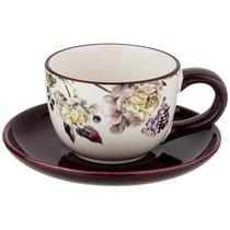 Чайный Набор На 1 Персону Пурпур 15x15 см Высота 7 см / 220 мл - Huachen Ceramics