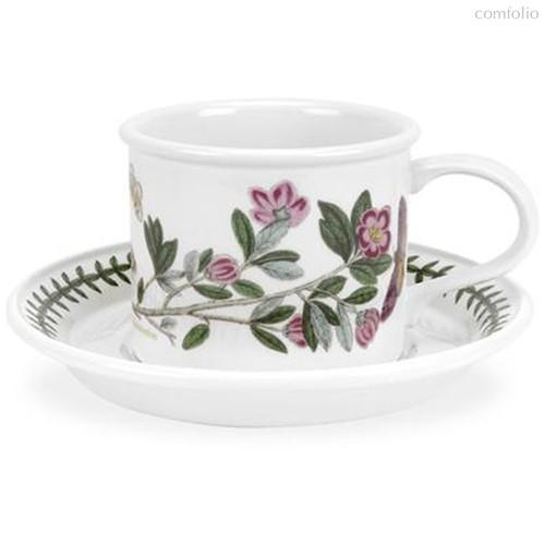 """Чашка чайная с блюдцем Portmeirion""""Ботанический сад. Рододендрон"""" 200мл - Portmeirion"""