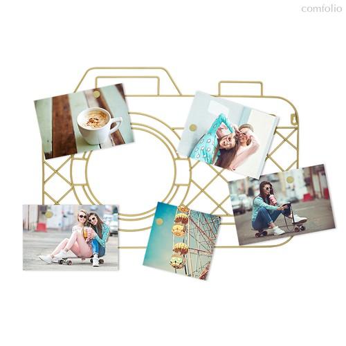 Держатель для фотографий магнитный Memory Cam золотой, цвет золотой - Balvi