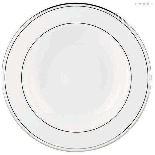 """Тарелка суповая Lenox """"Федеральный,платиновый кант"""" 23см, цвет белый/серебряный, 23 см - Lenox"""