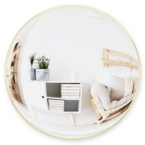 Зеркало сферическое Convexa 59 см латунь - Umbra