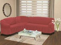"Чехол на диван угловой левосторонний ""BULSAN"" 2+3 посадочных мест, цвет розовый - Bulsan"