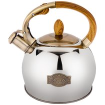 Чайник Agness Со Свистком 3,0 Л Термоаккумулирующее Дно, Индукция, цвет хром - L&K