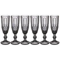 Бокалы для шампанского Серпентина 6 шт. Серия Muza Color 150 мл / В 20 см, цвет серый - Honkong Maple