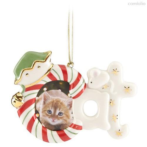 """Украшение новогоднее Lenox """"Фоторамка,кот"""" 8см (магнит) - Lenox"""