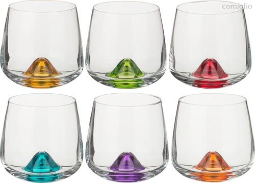 Набор стаканов ДЛЯ ВИСКИ из 6 шт. ISLANDS MIX 310 МЛ ВЫСОТА=9 СМ (КОР=8Набор.) - Crystalex