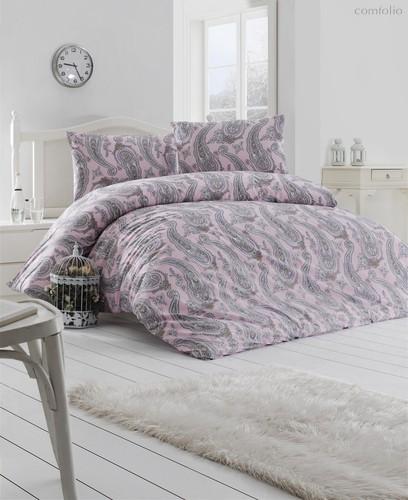 Постельное белье Ranforce Fellice, цвет пудра, размер Евро - Altinbasak Tekstil
