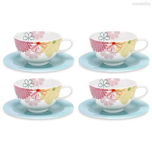 """Набор чашек для завтрака с блюдцем Portmeirion""""Маргаритки"""" 300мл, 4 шт - Portmeirion"""