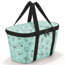 Термосумка детская Coolerbag XS cats and dogs mint - Reisenthel